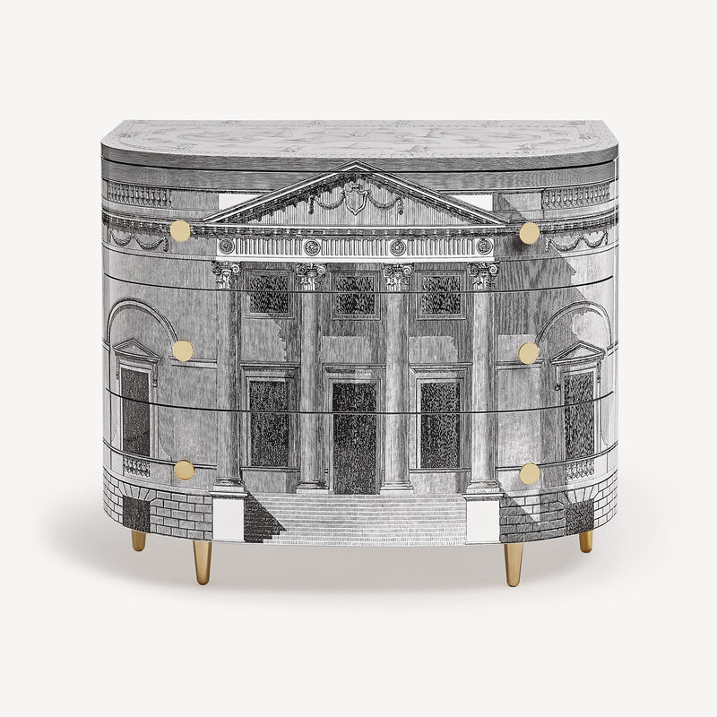 Curved chest of drawers Palladiana FORNASETTI