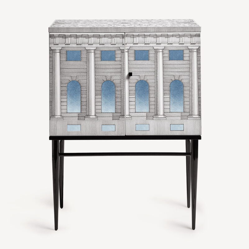 Raised small sideboard Architettura celeste FORNASETTI
