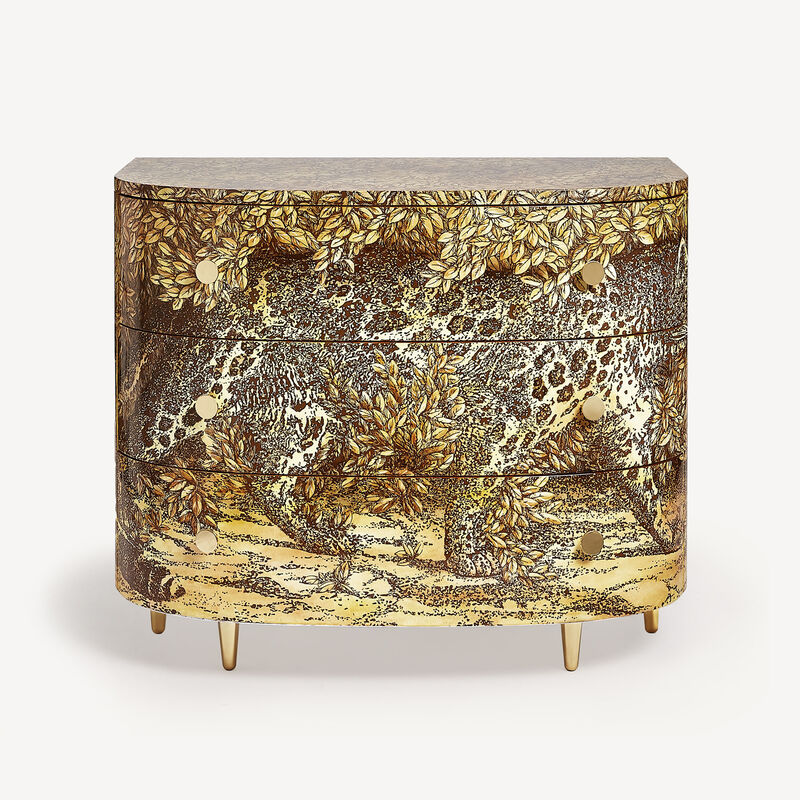 Curved chest of drawers Leopardo FORNASETTI